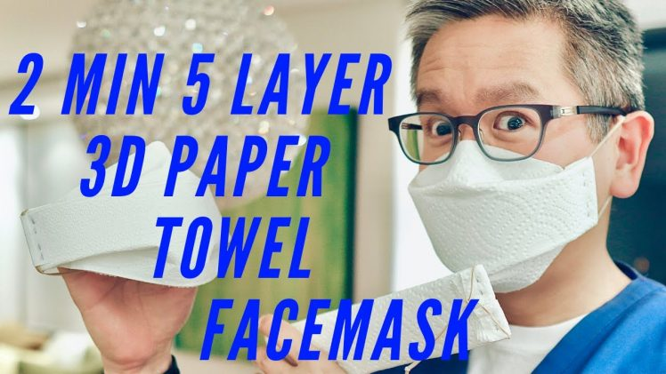 2 Minute 5 Layer 3D Paper Towel Face Mask